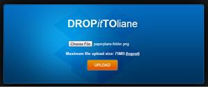 Dropittome upload screenshot