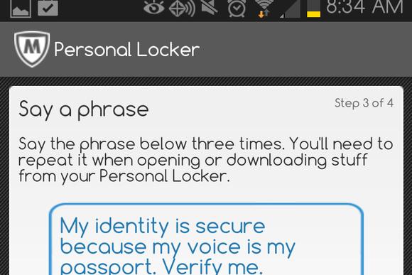 McAfee LiveSafe 2014 Personal Locker screenshot
