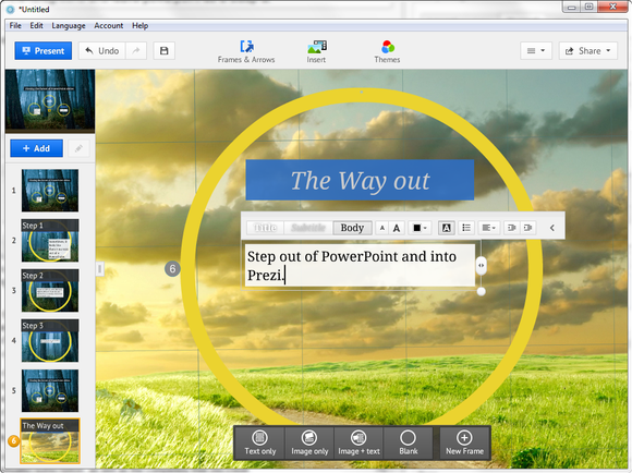 Prezi Desktop screenshot
