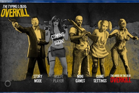Typing of the Dead: Overkill main screen screenshot