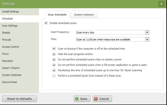 webroot settings