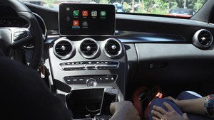mercedes benz carplay demo console april 2014