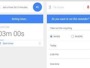 google now timers reminders