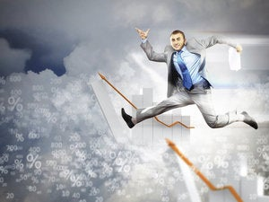 image of jumping businessman 166108927