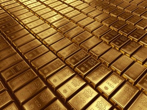 stacked gold bars 166406816