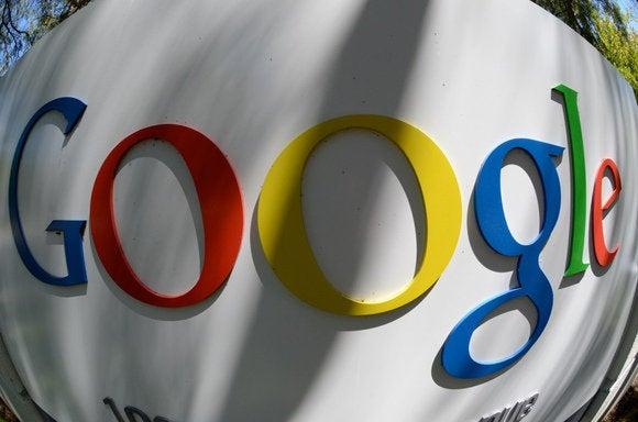 Google logo fisheye