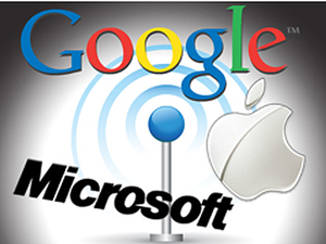 Google, Microsoft, Apple logos