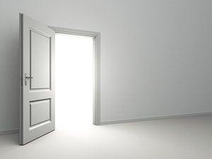 open door light shining through
