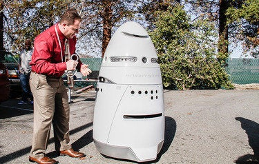 Drunken man arrested for assaulting 300-lb. K5 security robot