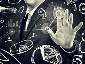 Big data analytics hand touchscreen user man