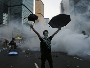 china hongkong protest teargas