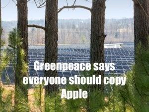 greenpeace says everyone should copy apple