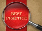 Magnifying glass on top of Best Practices