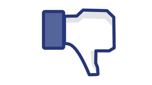 Facebook dislike thumbs down