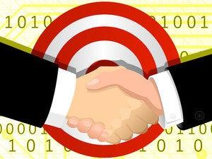 handshake hand shake target bullseye