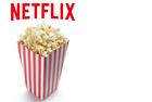 Netflix logo with popcorn