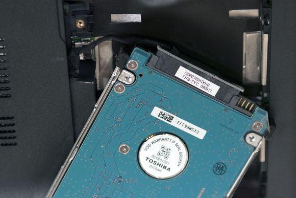 toshiba hard drive remove