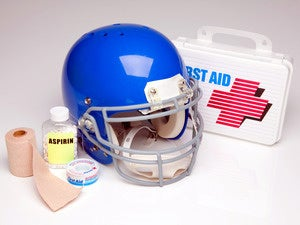 football helmet medical care first aid medicine