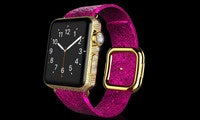 goldoldgenie apple watch pink python