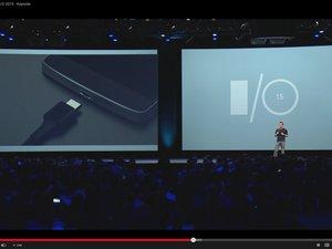 google io 2015 usb c port charging