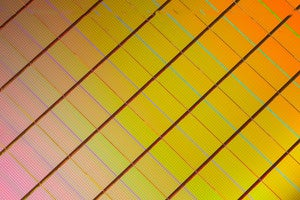 3d xpoint wafer close up