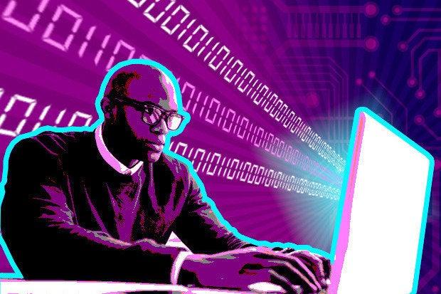 web developer laptop code user programmer