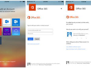 microsoft office 365 outlook auth screen