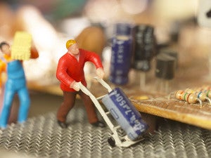 HOLD - CW November feature - microservices - minitature figurines service and repair circuit board