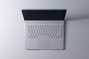 microsoft surface book overhead shot cropped