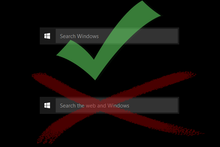 How to disable 'Search the web and Windows' on the Windows 10 taskbar