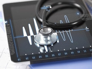 stethoscope tablet healthcare