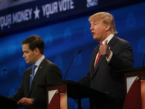 Marco Rubio and Donald Trump