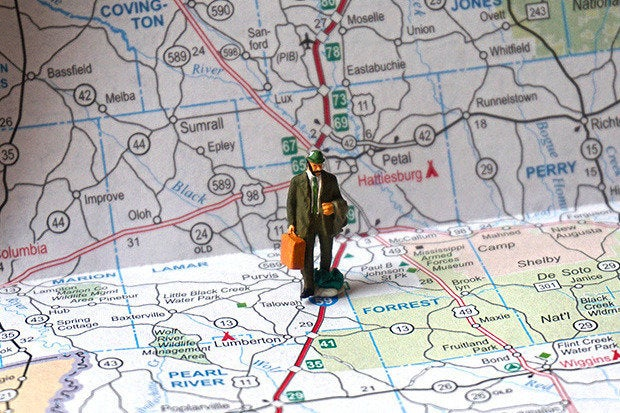 road map travel salesman
