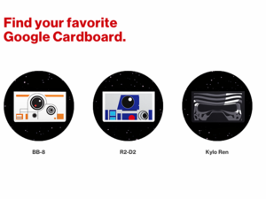 google cardboard star wars
