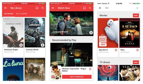 google play movies and tv ios app