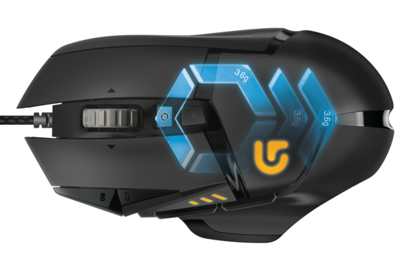 logitech overhauls the excellent g502 proteus core mouse. Black Bedroom Furniture Sets. Home Design Ideas