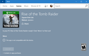 tomb raider windows store