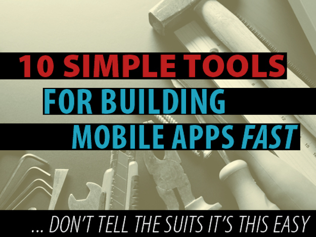 low code mobile tools