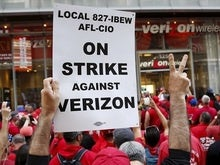 Replacement Verizon worker charged with running over striker, hitting officer
