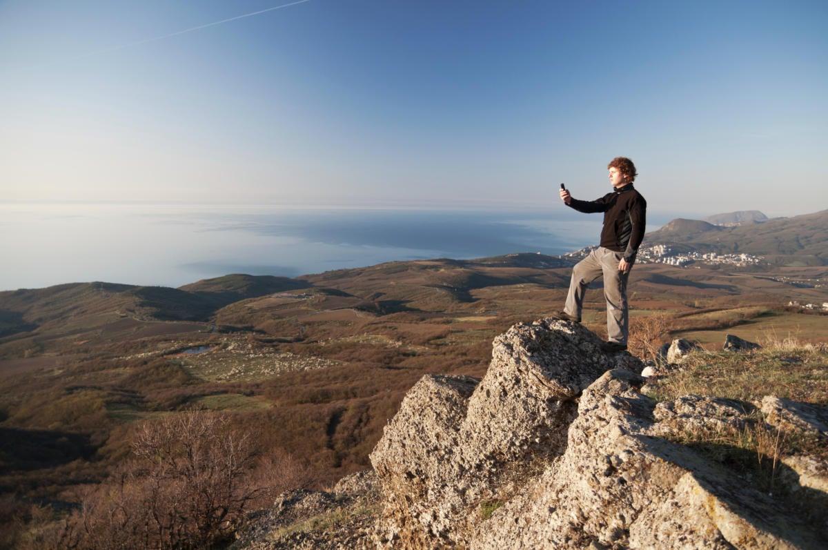 thinkstockphotos travel mountain hiker