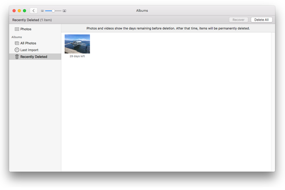 recently deleted apple photos