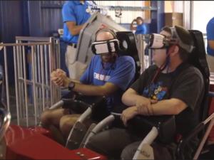 keith brandon VR roller coaster Six Flags Superman
