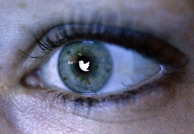 twitter logo eyeball