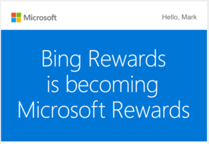 bing rewards microsoft rewards