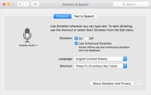 el capitan system preferences dictation speech animation