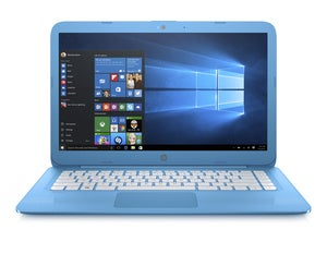 hp stream 14 aquablue frontopen win10