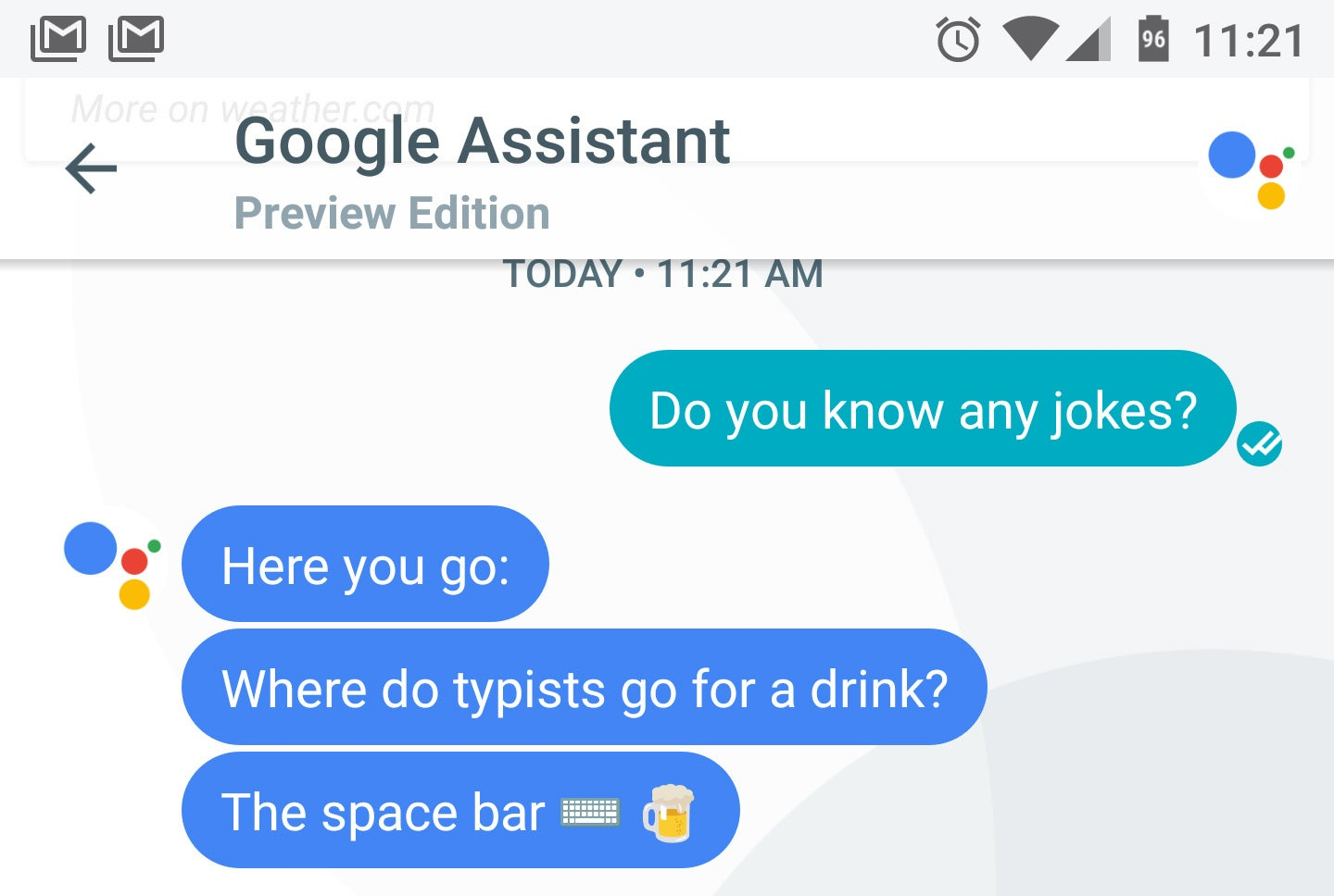 google assistant tips jokes