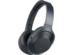 Sony MDR-1000X active noise cancelling headphones.