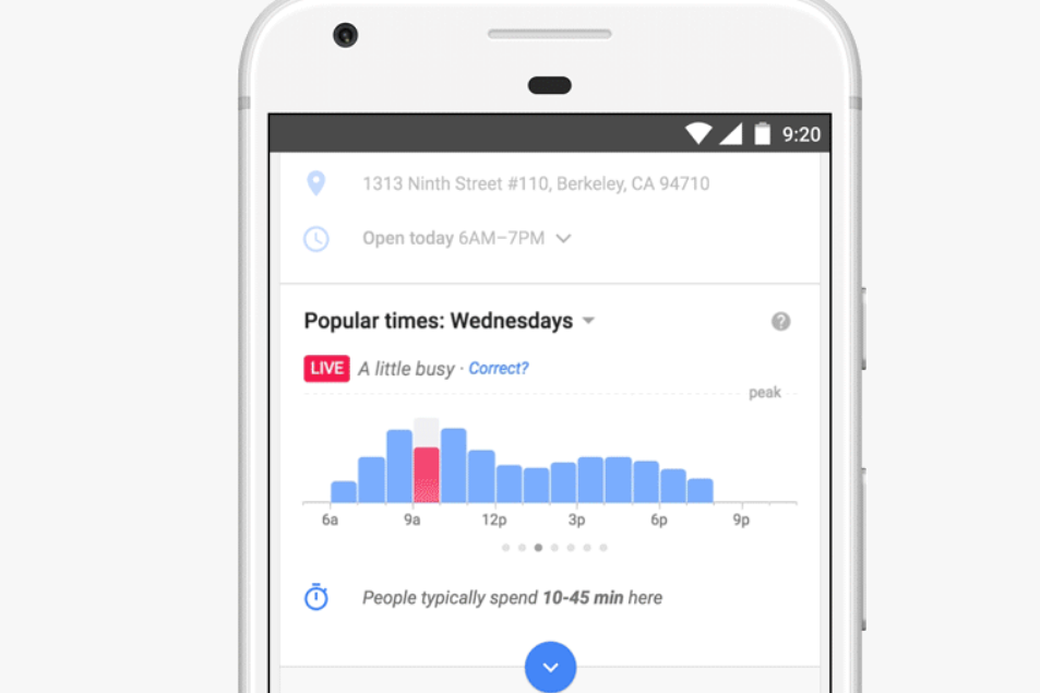 Google Maps will now tell you how busy a place is in real time