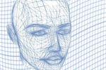 machine learning head wireframe public domain